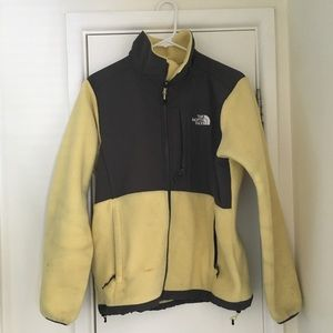 The North Face yellow fleece jacket